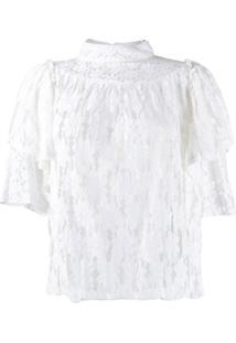 Isabel Marant Étoile Blusa Victorian Com Renda - Branco