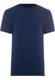 Camiseta Masculina Ckj Logo Relevo Interno - Azul