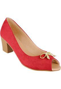 Sapato Peep Toe Com Laco Di Santinni 60226037