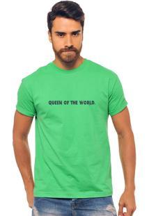Camiseta Verde Estampada Masculina Joss - Queen Of The World Roxo