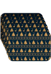 Jogo Americano Love Decor Wevans Moderno Natal Kit Com 6 Pçs