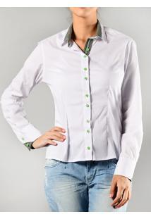 Camisa Marcia Mello Tricolione Branco