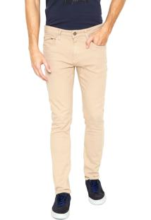 Calça Sarja Calvin Klein Jeans Skinny Five Bege
