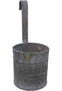 Vaso De Parede De Metal 7X6Cm Kasa Ideia