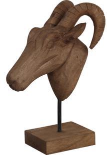 Estatua Animal- Pashmina- Madeira- Marrom - Kanui