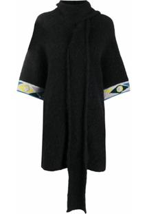 Emilio Pucci Scarf-Style Knitted Cardigan - Preto