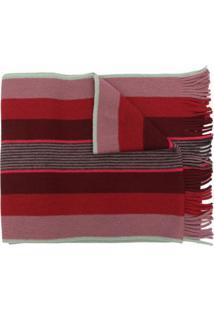 Paul Smith Cachecol De Lã Com Padronagem De Listras - Vermelho