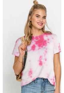 Blusa Com Amarração Nas Costas Tie Dye Rosa
