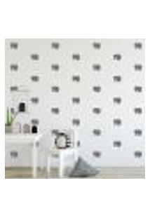 Adesivo Decorativo De Parede - Kit Com 35 Elefante - 040Kaa08