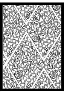 Quadro Com Moldura Caminhos Branco E Preto (45X32)