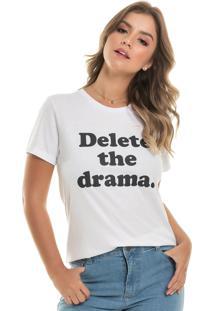 Camisetas Up Close Drama Branca - Branco - Feminino - Dafiti