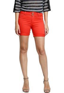Short Tecido Energia Fashion Coral