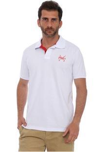 Camisa Polo England Polo Club Casual Taco - Masculino-Branco