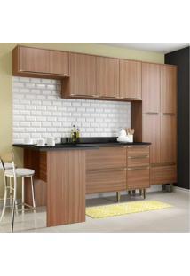Cozinha Completa Multimóveis Com 6 Peças Calábria 5454 Nogueira