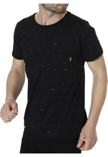 Camiseta Manga Curta No Stress Preto