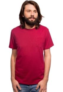 Camiseta 4Me Com Bolso Bordô