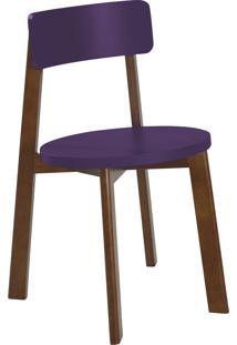 Cadeira Lina 75 Cm 941 Cacau/Roxo - Maxima