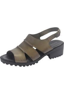 Sandália S2 Shoes Vitória Couro Verde Folha - Tricae