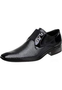 Sapato Bigioni Em Couro Verniz Preto