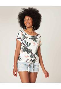 Blusa Sustentável Com Amarração Malwee Branco - M