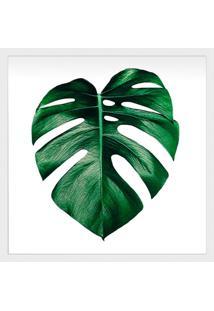 Quadro Decorativo Palmeira Branco