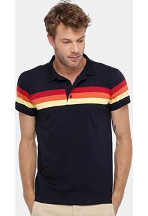 Camisa Polo Reserva Listras Pôr Do Sol Masculina - Masculino