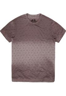 Camiseta Masculina Mini Triângulos Cinza