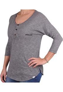 Camiseta O'Neill Erie Feminina - Feminino-Cinza