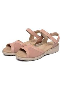 Sandália Casual Belle Comfort Style Couro