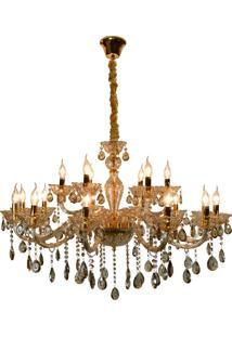 Lustre Hevvy Maria Eduarda Romanticosl-5673-H18-Champanhe Dourado E Champanhe