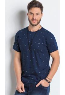 Camiseta Estampada Actual Marinho