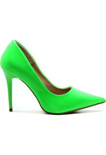 Scarpin Royalz Verniz Neon Fluorescente Penélope Feminino - Feminino-Verde