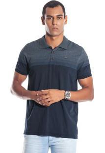 Camisa Pólo Azul Marinho Linho masculina  df28e87ad3c6b