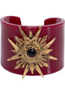 Bracelete Feminino Sagrado Coração - Vermelho