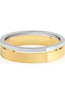 Aliança De Casamento Ouro Amarelo E Branco (5Mm)