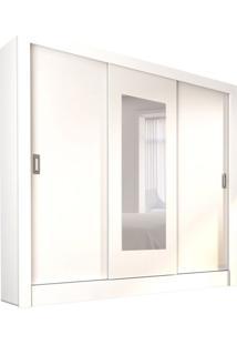 Guarda-Roupa Casal Com Espelho Bahia 3 Pt Branco