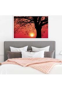 Quadro Love Decor Com Moldura Savana Sunset Branco Grande