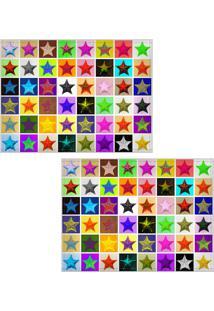 Jogo Americano Colours Creative Photo Decor - Estrelas Coloridas - 2 Peças