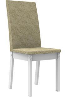 Kit 2 Cadeiras 4248 Madesa Branco/Imperial Branco - Tricae
