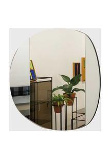 Espelho Notte 100X100 Espelho Prata Vidrotec