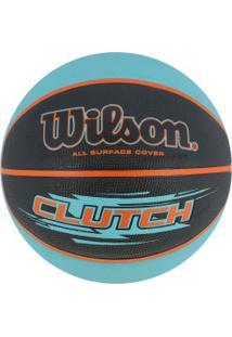 Bola De Basquete Wilson Clutch 7 - Azul/Preto