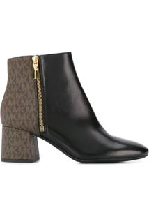 Michael Michael Kors Ankle Boot Color Block Alane - Preto