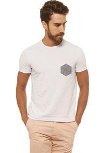 Camiseta Joss - Flor Doida Pequena - Masculina - Masculino-Branco