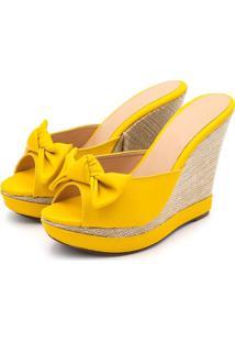 Sandália Anabela Avalon 3071 Amarelo