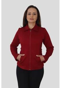 Jaqueta Tomasini Tricot Metalassê Feminina - Feminino-Vermelho