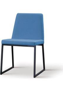 Cadeira Graty Azul Base Preta - 55861 - Sun House
