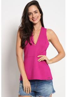 Blusa Com Recortes- Pink- Colccicolcci
