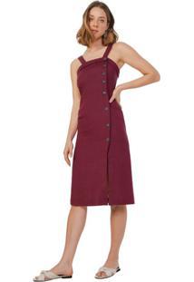 Vestido Midi Regata Linho