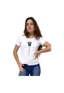 Camiseta Feminina Cellos Rose Premium Branco