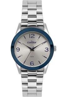 Relógio Condor Bracelete Feminino - Feminino-Prata